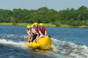 Share Discovery Village banana boating