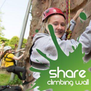 climbing wall share
