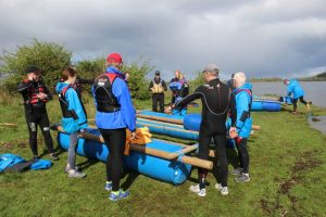 Group Raft Building in Ireland