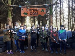 Kids Birthday Enjoying Combat Corps