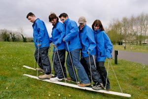 Plank Walking Team Building Game