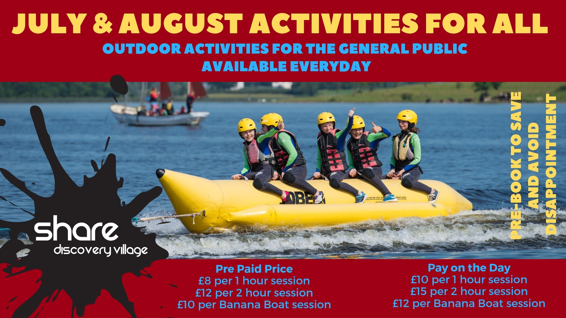 July and August Activities for All!