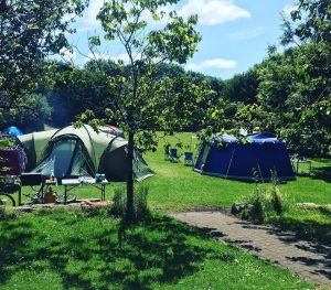 Camp site at SHARE Discovery Village, Lisnaskea