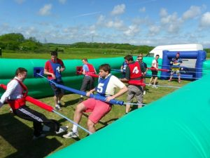 Human Football Table Team Building