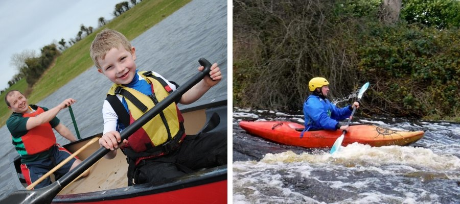 Health Benefits of canoeing and Kayaking - difference