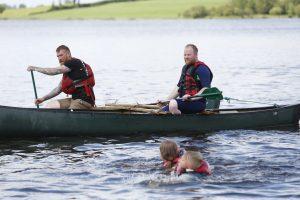 Canoeing on Upper lough Erne