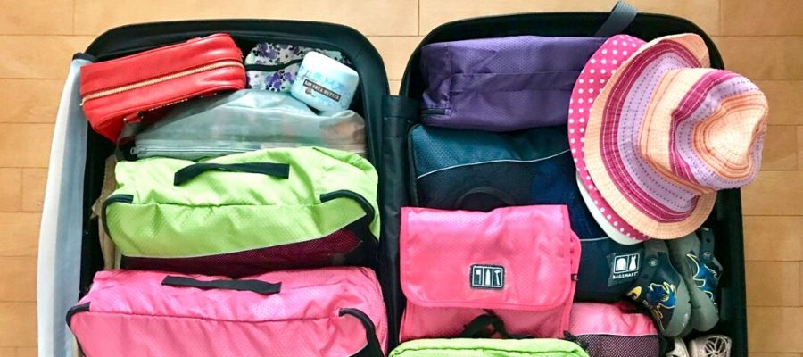 suitcase packing for kids trip