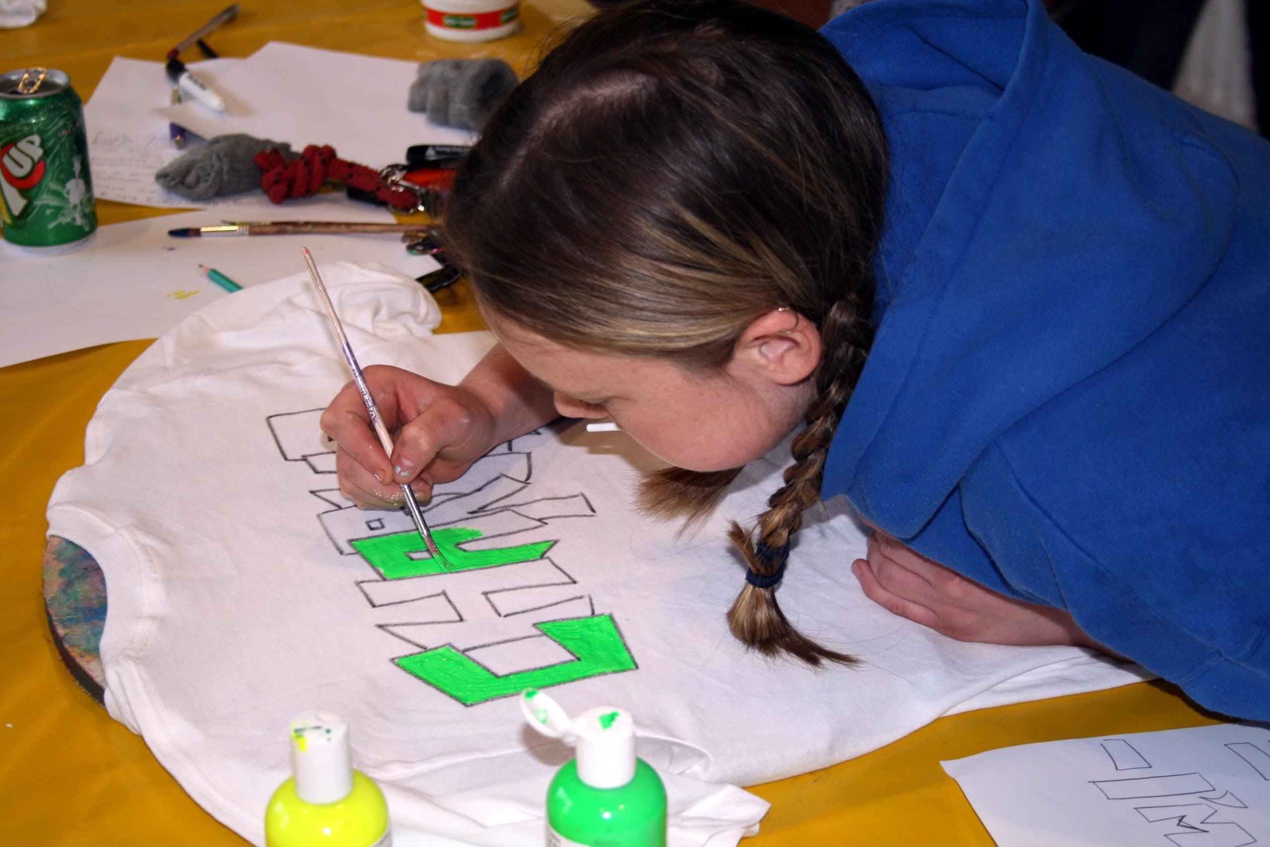 T-shirt Painting - indoor activities for kids