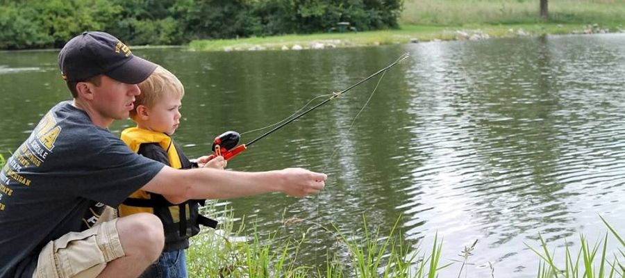 Fishing with kids