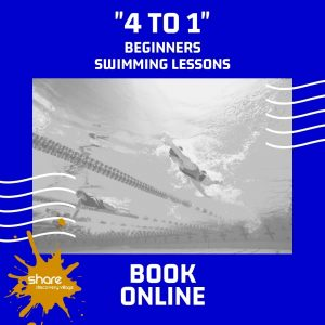 4 to 1 Beginners Swimming Lessons